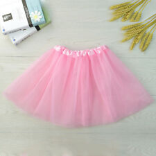 Kids Girls Tutu Bubble Skirt Ballet Dance Elastic Dress Costume Dancewear 2-8Y