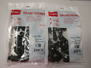 TORO TRI-LOC FITTINGS #TL-M50 - NEW IN PACKAGE - QTY. 2 PACKAGES OF 25 EACH