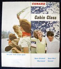 CUNARD LINE -- Cabin Class Brochure, c.1963 -- Color Interior Photos