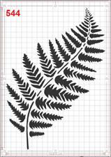 Large Fern Leaf no10 Stencil MYLAR A4 sheet strong reusable wall art craft deco