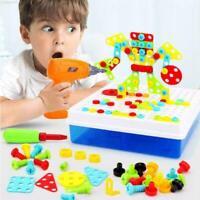 151 stücke Kinder Spielzeug Bohrer Puzzle Pädagogisches Spielzeug DIY mode
