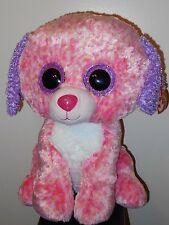 """Ty 17"""" JUMBO Beanie Boos ~ LONDON the Pink Dog ~ Claires Exclusive ~ MWMTS NEW"""