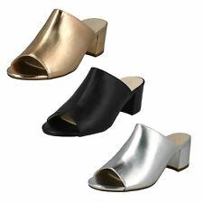 Ladies Anne Michelle Chunky Heel Mule Sandals F10664