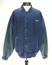 FORD Jacket Cars Trucks Denim BOMBER Vintage Varsity Blue/Green Men's XL RARE