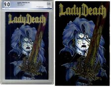 Lady Death #1 PGX 9.0 PLUS raw copy * Chromium cover * Chaos! Comics 1994 2books