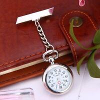 Vintage Silver Nurse Watch Metal Nursing Nurses Pendant Pocket Fob Brooch Quartz