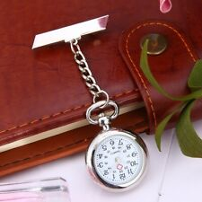 Vintage Silver Nurse Watch Metal Nursing Nurses Pendant Pocket Fob Brooch Quartz