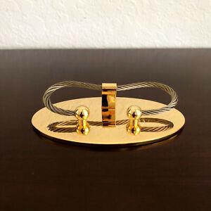 Gold Business Card Holder for Desk - Business Card Display - Office Desk NIB