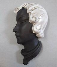 Art Deco Keramik Wandmaske Frau 531 Wall Mask um 1935
