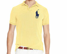 Polo Ralph Lauren Mens Big Pony Logo Slim Tailored Fit Short Sleeve Button Shirt