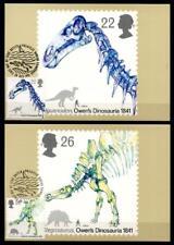 150 Jahre Kongresses über Dinosaurier. 5 Maximumkarten. Großbritannien 1991