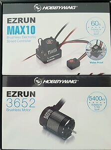 HOBBYWING MAX10 ,60 AMP WATER PROOF  ESC 5400KV MOTOR COMBO GENUINE & SEALED