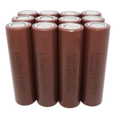 12X 18650 INR 3000mAh Li-ion Rechargeable Battery Flat Top High Drain for Vape