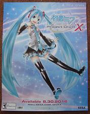 """Hatsune Miku: Project Diva X PS4 PSVita GameStop E3 PAX Promo Poster 22"""" x 28"""""""