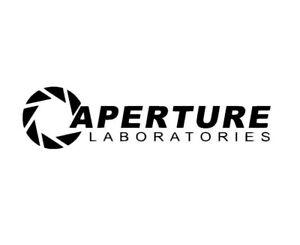 Aperture Laboratories Vinyl Sticker BLACK GLOSS 4.5 x 17.9 cm