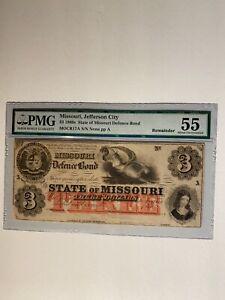 $3 1860s State of Missouri Defence Bond