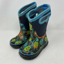 Bogs Winter Boots Kids Youth 8 Boys Girls Insulated -30 Blue Monsters Pull On