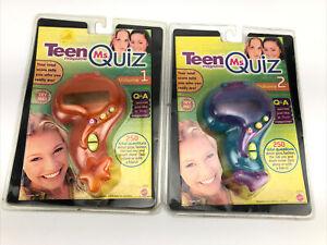 VTG Teen Magazine Ms.Teen Quiz Trivia Electronic Handheld Game Volume 1 & 2 Set