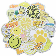 50Pcs Yellow Vsco Sticker Pack for Water Bottle Luggage Laptop Helmet Decals Lot
