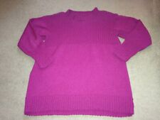PURPLE HAND CRAFTED WINTER LONG JUMPER RIB DETAIL SIZE 16