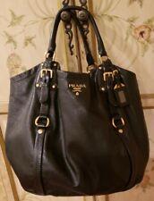 PRADA Large Black Hobo Shoulder Bag