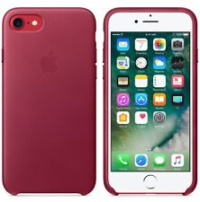 """NEW BERRY RED GENUINE ORIGINAL Apple Leather Case For iPhone 7 4.7"""" RETAIL BOX"""