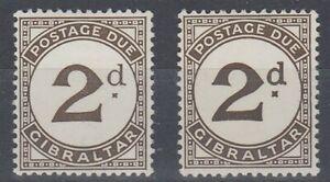 GIBRALTAR 1956 2d. POSTAGE DUE LARGE 'd' MINT (ID:457/D61059)