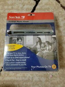 SANDISK Shoot & Store Digital Photo Album/Card Reader SDV2-A (View Photos on TV)