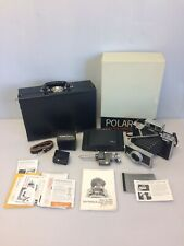 Polaroid Land Camera Model 180 w/ 114mm f4.5 Lens, Box Extras Case, Japan, Works