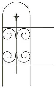 "32"" x 8', Black, Panacea Folding Fence With Finial, Powder Coated Steel, 89373"