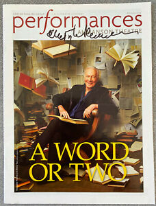Christopher Plummer Signed In-Person A Word Or Two LA Performance Magazine - RIP