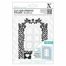 Xcut Cottage Window Die Cut and Emboss Folder Floral Garden