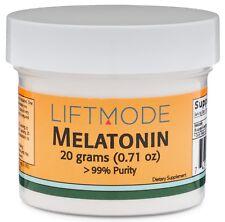 Liftmode Melatonin 99% Pure - 20 Grams | Supplement for Sleep