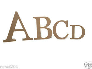 Wooden Full Alphabet Set Of Letters Scrabble 4mm Thick Various Sizes Birch MDF