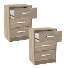2x NACHTTISCH braun #127 Schublade Nachtschrank grau Paar Nachtschränke Tisch