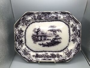 Rare Pattern PERCY Flow Mulberry Ironstone Transfer Platter