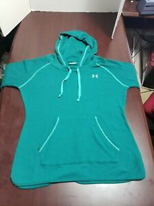 Under Armour Womens All Seasons Green Teal Semi Fitted Hoodie Large L