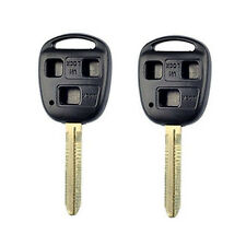 A Pair 3 Button Key Fob Case Key Shell Housing fit for Toyota Fj Land Cruiser