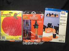 Halloween Pumpkin Centerpiece Witch Inflatable Windsock Black Cat Table Decor