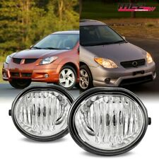 For 03-08 Toyota Matrix OE Bumper Factory Fit Fog Lights PAIR Kit Clear Lens