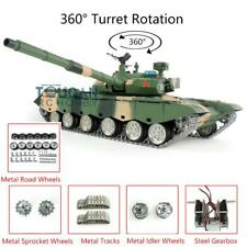 Henglong 1/16 6.0 3899A Chinese 99A Rc Tank 360° Turret Metal Tracks Wheels