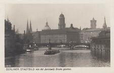 Cartolina circa 14x9 cm Berliner Quadro Città dal jannowitzbrücke VISTO (G2090)
