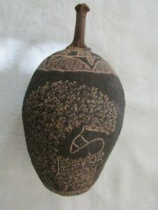 Original Vintage Australian Aboriginal Carved Boab Nut Seed Pod Lot B