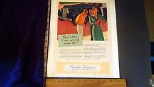 Rare Orig VTG 1938 Cadillac Fleetwood McClelland Barclay Advertising Art Print
