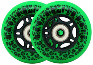 GREEN CHEETAH Wheels for RIPSTICK ripstik wave board  ABEC 9 76MM 89A OUTDOOR