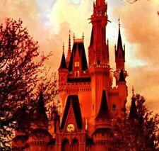 Cinderella's Castle sunset Walt Disney World Resort Florida Vintage Postcard