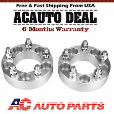 """2pcs 1.5"""" 5x4.5 To 5 x 4.5 Wheel Spacers Thick Adapters 1/2""""x20 Studs 5lug"""