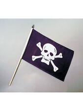 Piraten-Fahne mit Stab 30x45cm Pirat Flagge