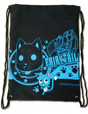 **License Bag** Fairy Tail Exceed Happy & Guild Logo Drawstring Backpack #11653