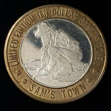 1994 CT Sam's Town Casino Silver Strike $10 Gold Panner NShnyBtwArm Token ¬ST407